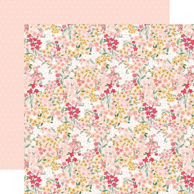 Papel Estampado Doble Cara 12x12 Welcome Baby Girl Dreamer Floral