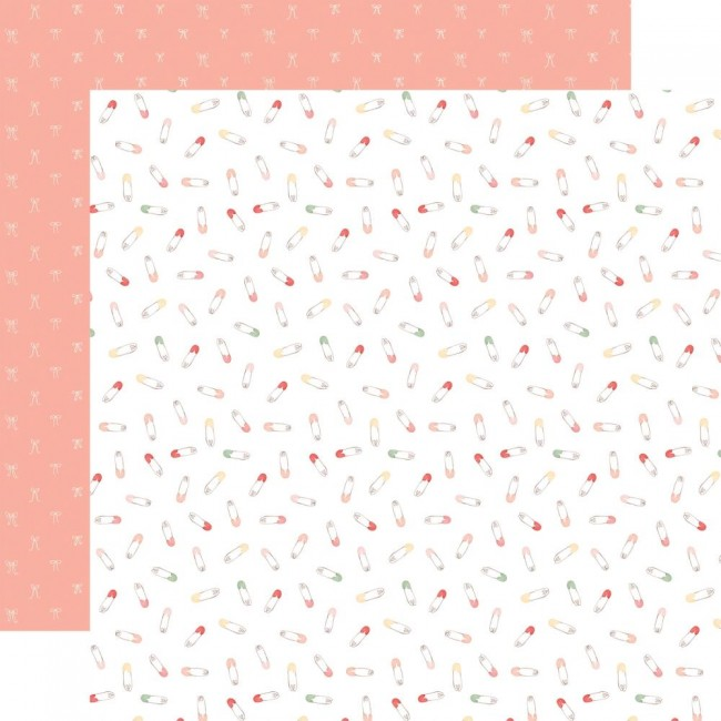 Papel Estampado Doble Cara 12x12 Welcome Baby Girl Sweet Baby Girl