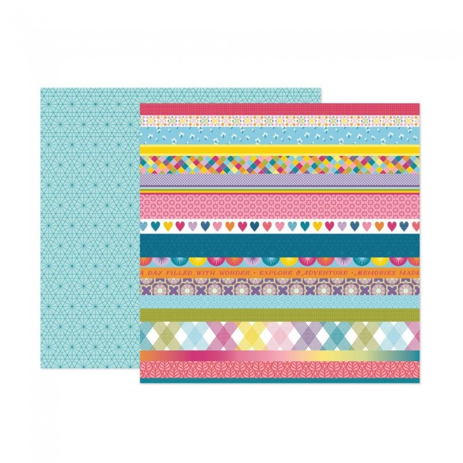 Papel Estampado Doble Cara 12x12 Wonders Paige Evans 15