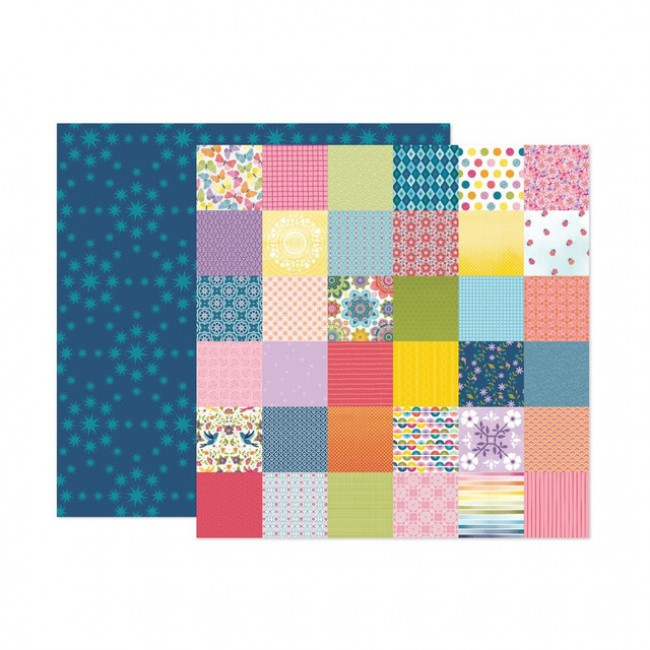 Papel Estampado Doble Cara 12x12 Wonders Paige Evans 20