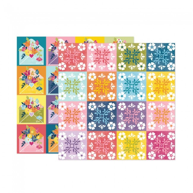 Papel Estampado Doble Cara 12x12 Wonders Paige Evans 22