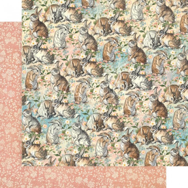 Papel Estampado Doble Cara 12x12 Woodland Friends Be Kind