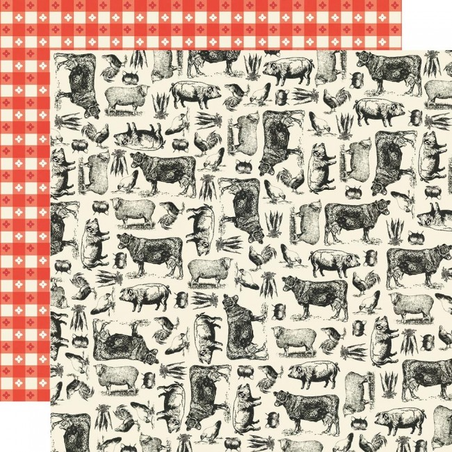 Papel Estampado Doble Cara 12x12 Apron Strings Farm To Table
