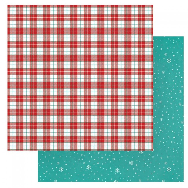 Papel Estampado Doble Cara 12x12 Christmas Cheer Christmas Eve