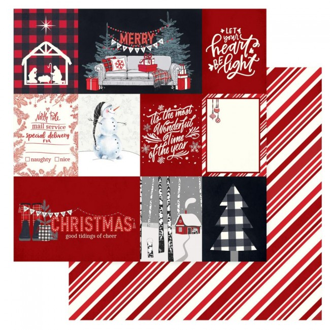 Papel Estampado Doble Cara 12x12 Christmas Cheer Let Your Heart Be Light