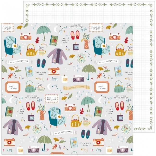 Papel Estampado Doble Cara 12x12 Days Of Splendor Oh So Delightful