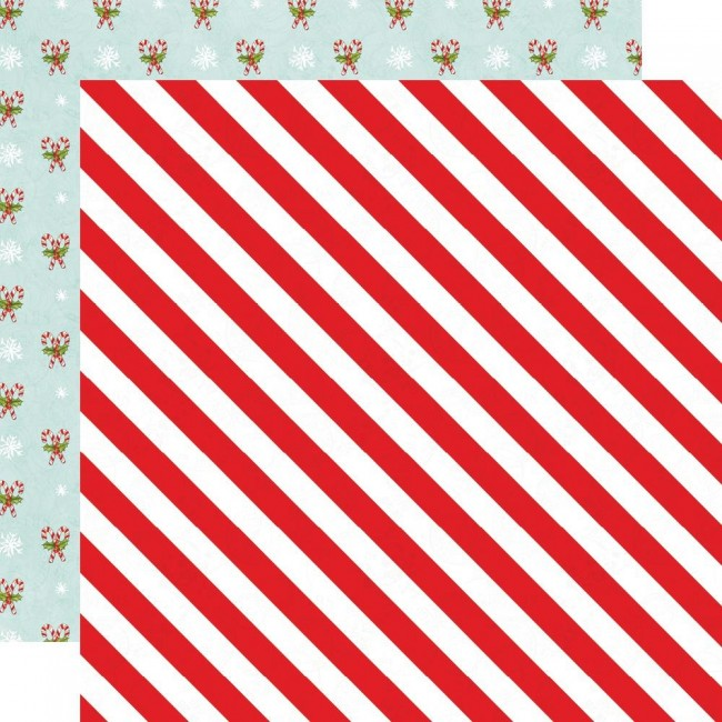 Papel Estampado Doble Cara 12x12 Simple Vintage North Pole Twinkle & Shine