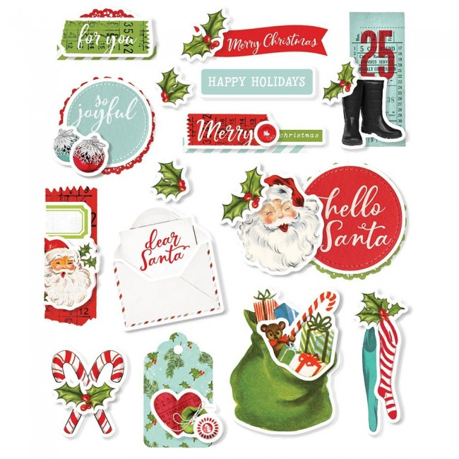Pegatinas Simple Vintage North Pole