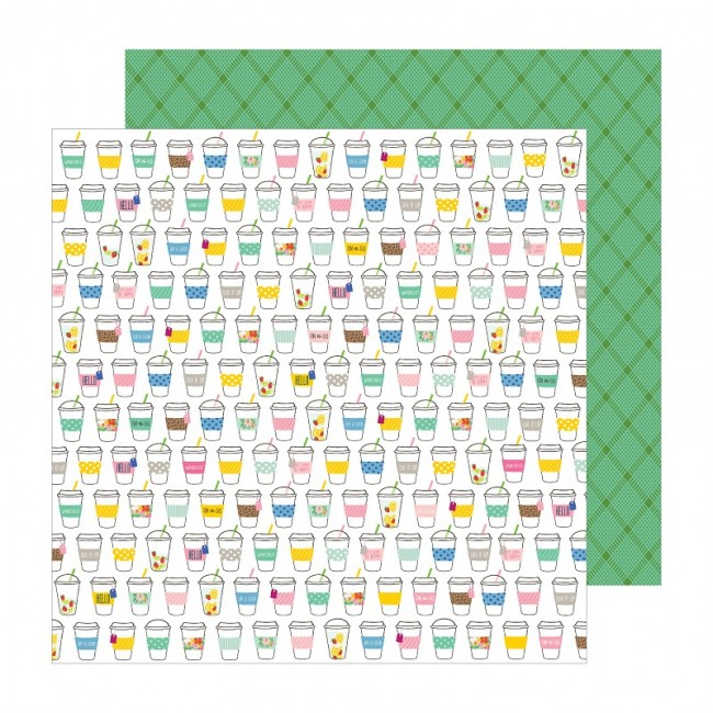 Papel Estampado Doble Cara 12x12 Chasing Adventures Sip Sip