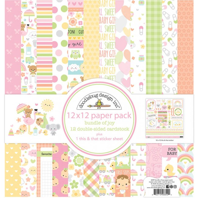 Kit Papeles Estampados 12x12 Bundle Of Joy DO