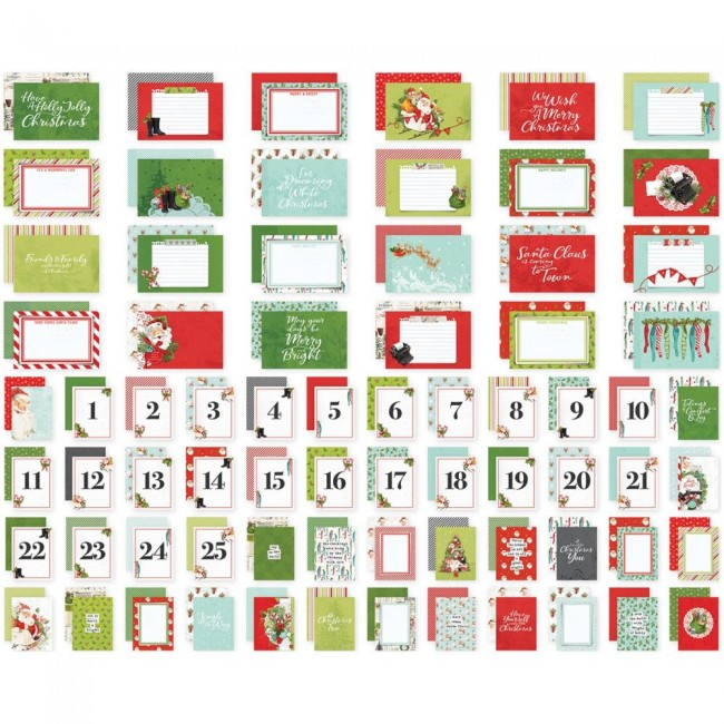 Set de tarjetas Project Life Simple Vintage North Pole