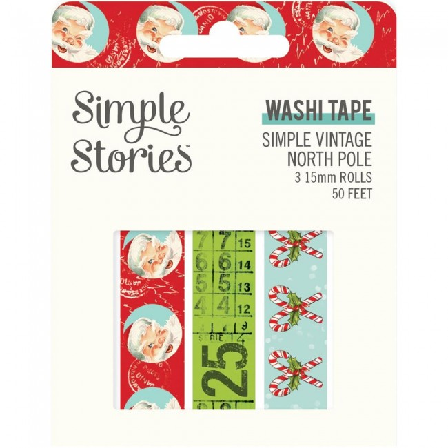 Set de Washi Tape Simple Vintage North Pole