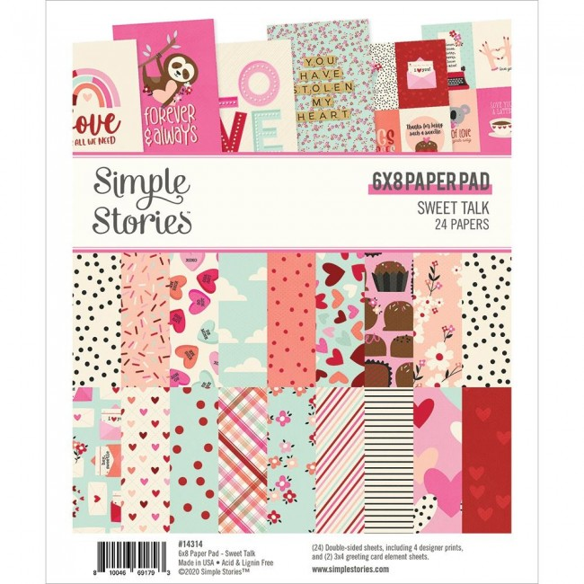 Stack Papeles Estampados 6x8 Sweet Talk