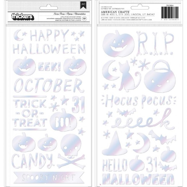 Thickers Hey Pumpkin Reedition Hocus Pocus Phrase & Icons Puffy