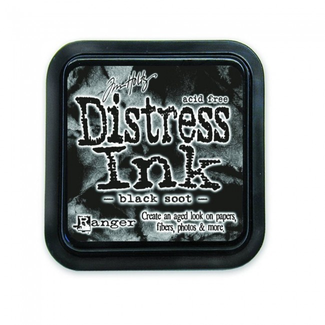 Tinta Distress Ink Black Soot
