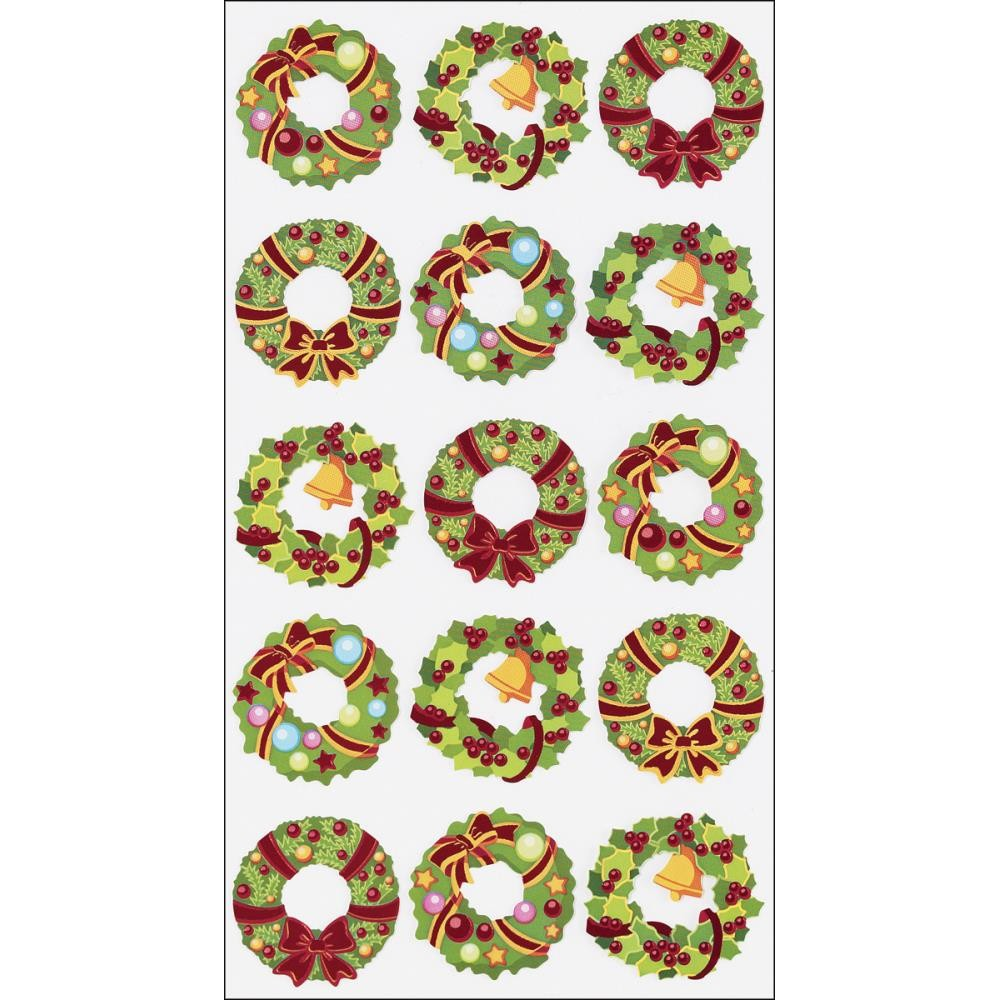 Holiday Wreaths Stickers