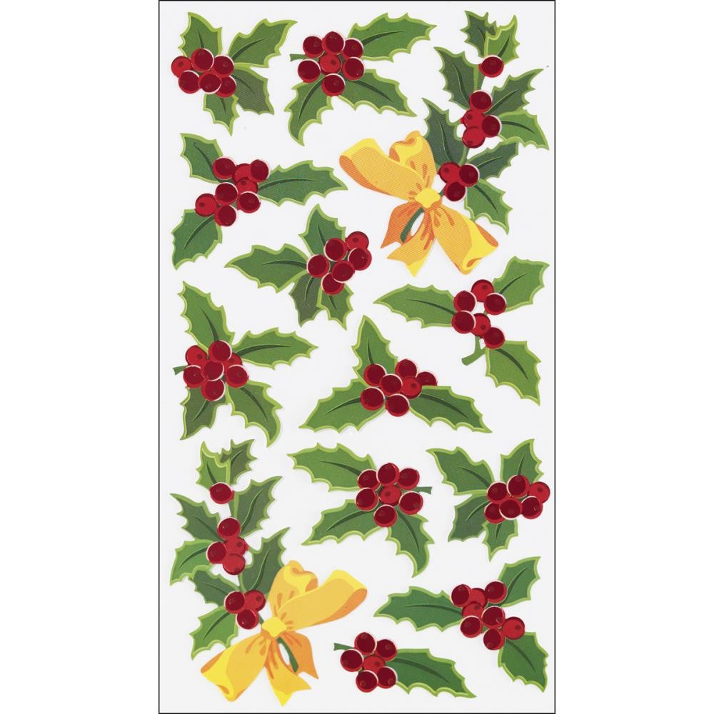 Holly & Berries Stickers