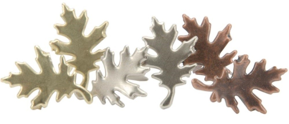 Antique Oak Leaf Fasteners