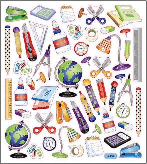 School Icons Stickers