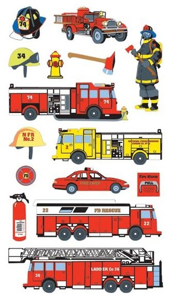 Fire Department Stickers