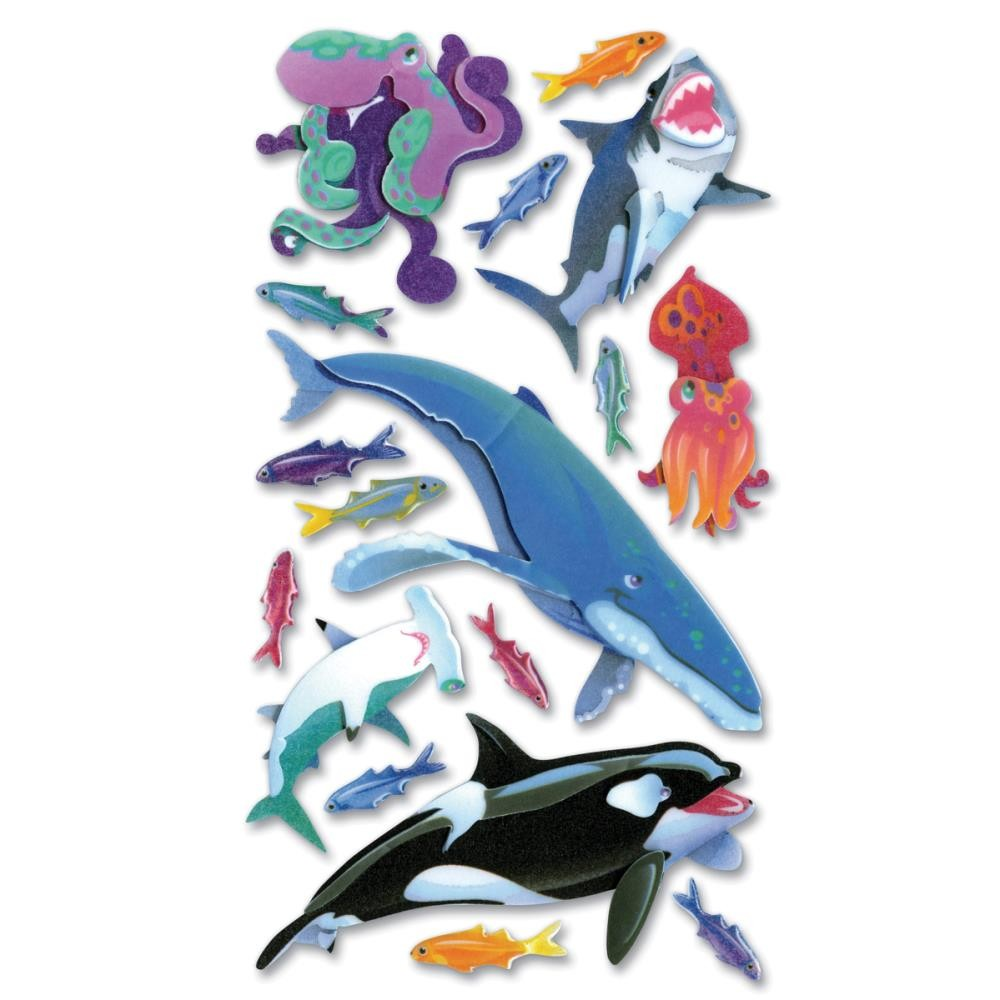 Sharks, Whales & Octopus Stickers