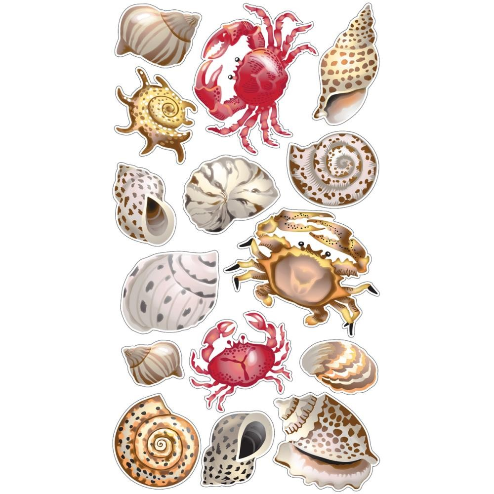 Shells & Crabs Stickers