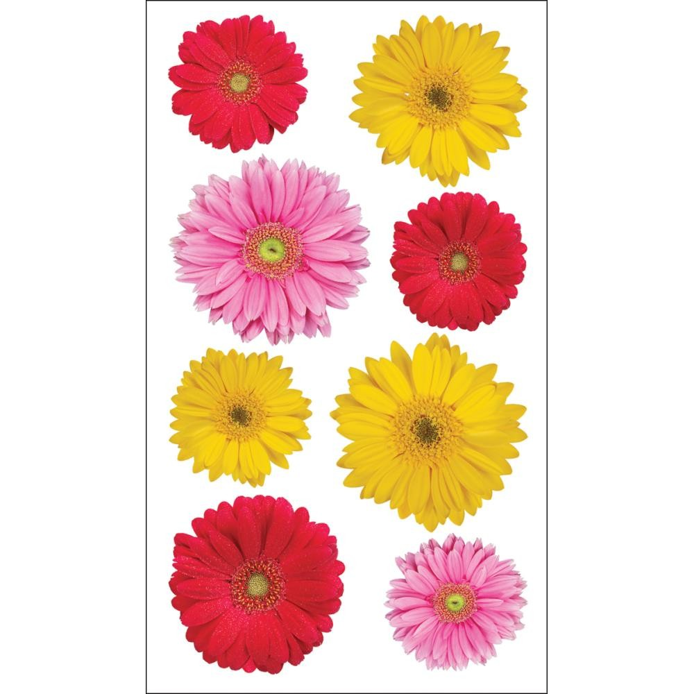 Gerbera Mix Photo Flowers Stickers