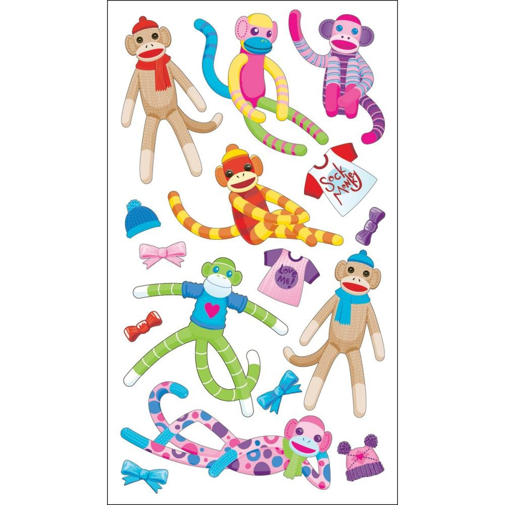 Sock Monkeys Stickers