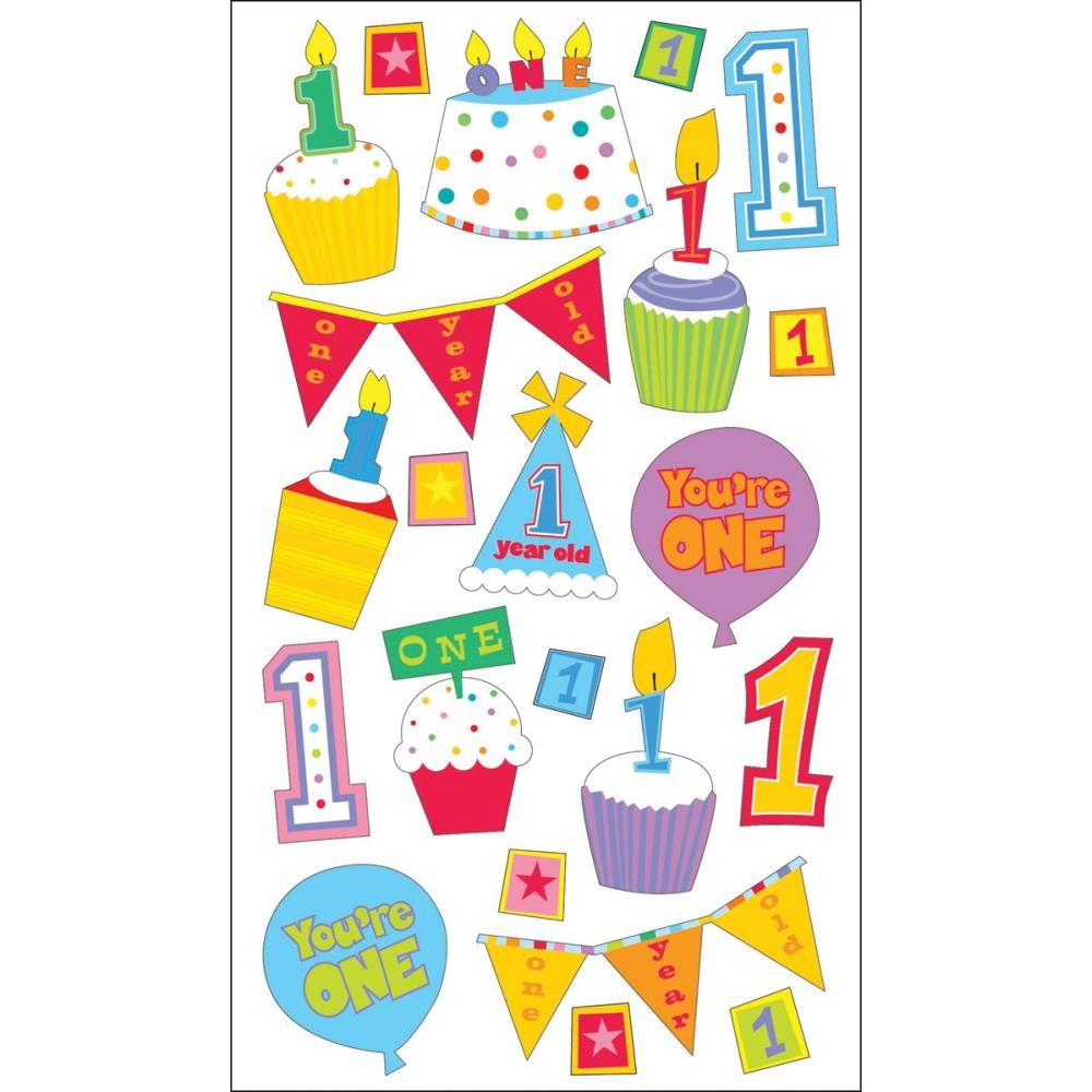 Baby's First Birthday Stickers