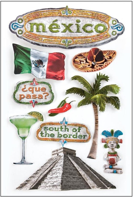 Mexico 3D Stickers