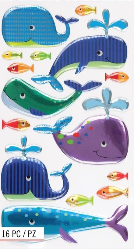 Happy Whales Stickers