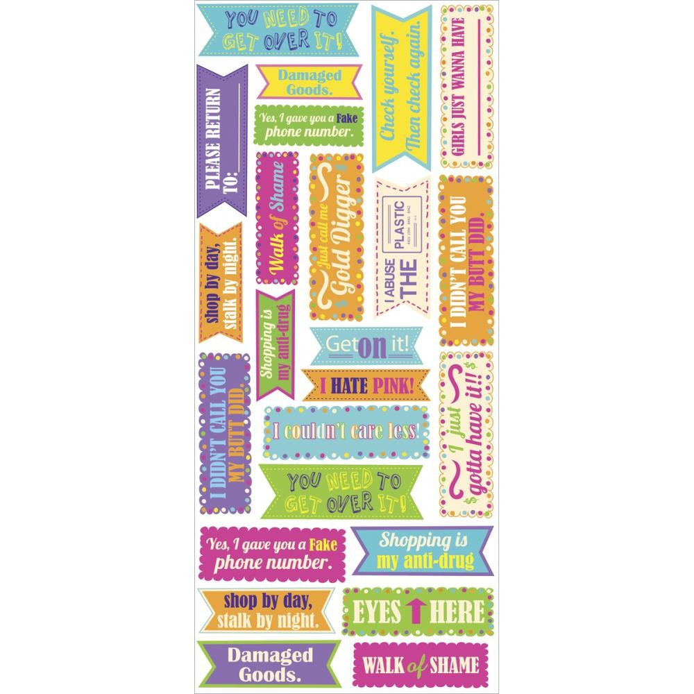 Sassy Teen Phrase Labels Stickers