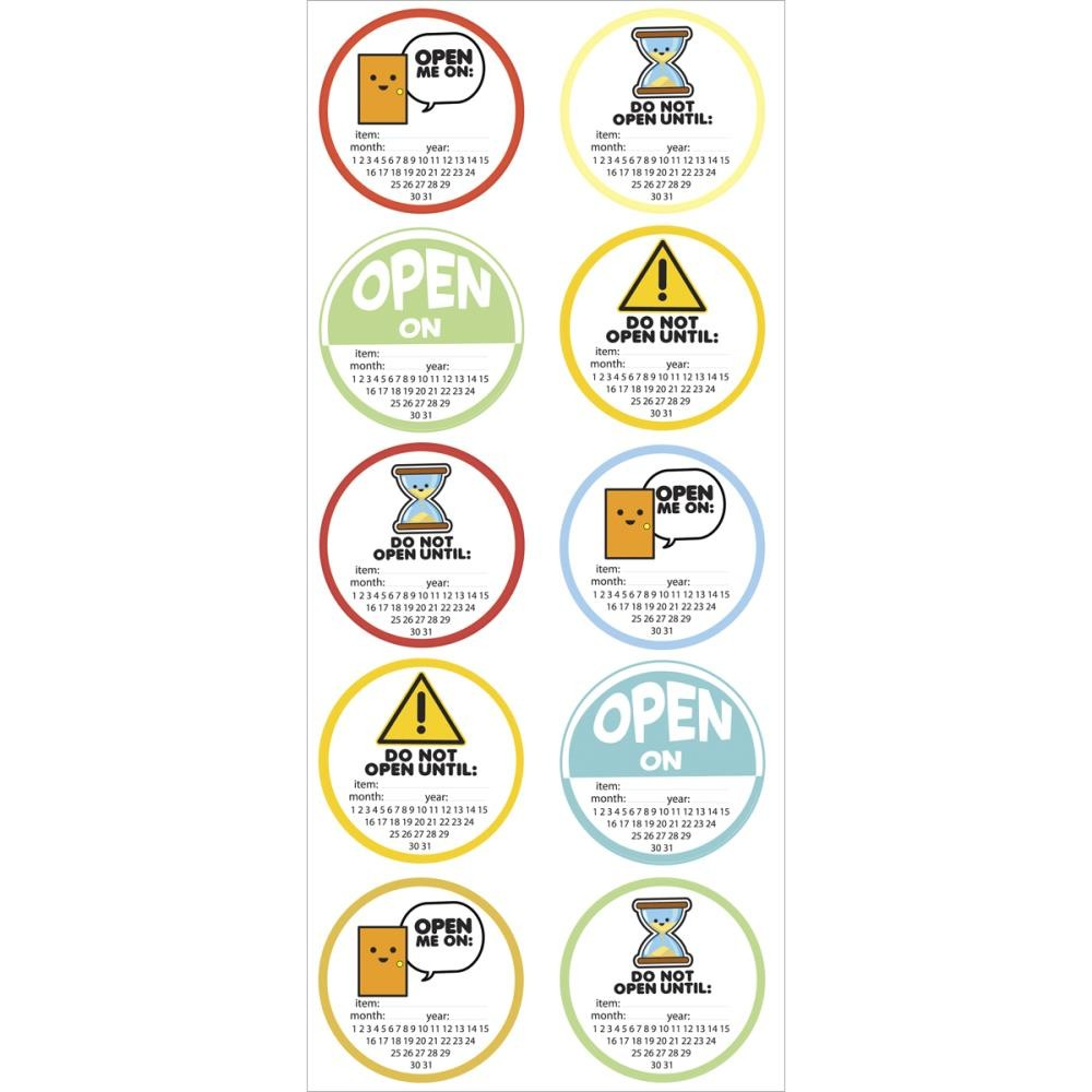 Open On Canning Labels Stickers