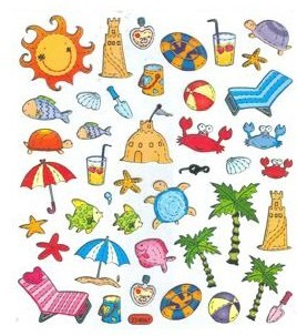 Summer Icons Stickers