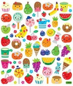 Fruit Faces Stickers