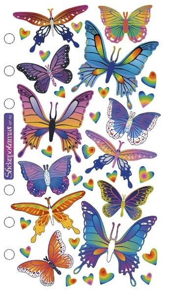 Foil Butterflies Stickers