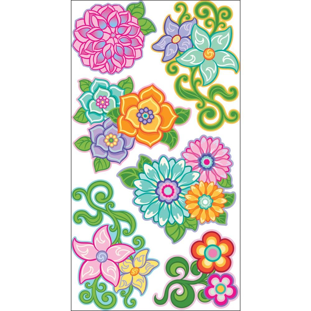 Flourishy Flowers Stickers