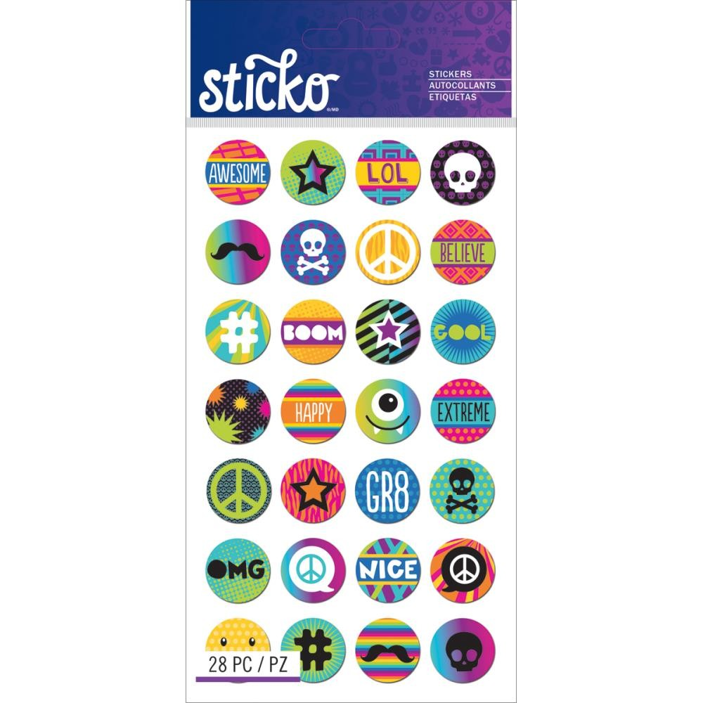 Circle Words & Icons Stickers