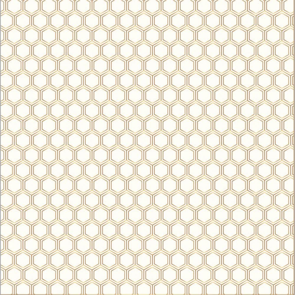Papier Imprimé Recto 12x12 - Cottage Living - Honeycomb