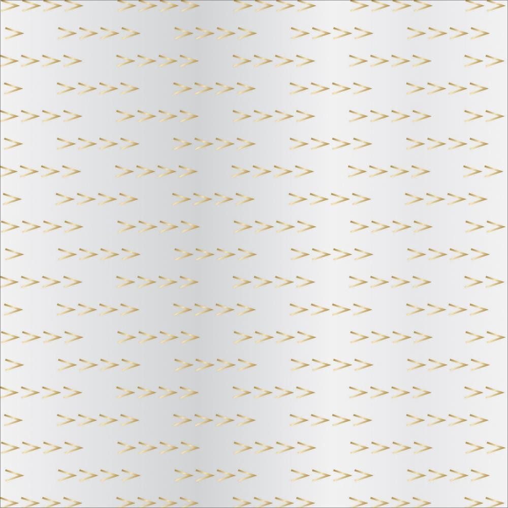 Papier Imprimé Recto 12x12 - Signature Essential - Arrows gold Foil