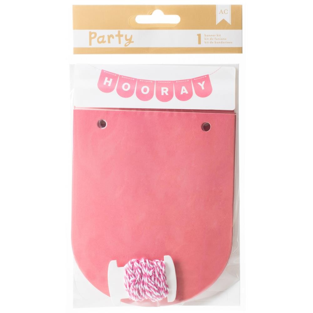 Pink & White Party Banner Kit