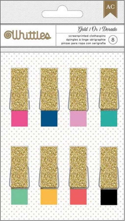 Whittles Clothespins Glitter & Fashion Couleurs