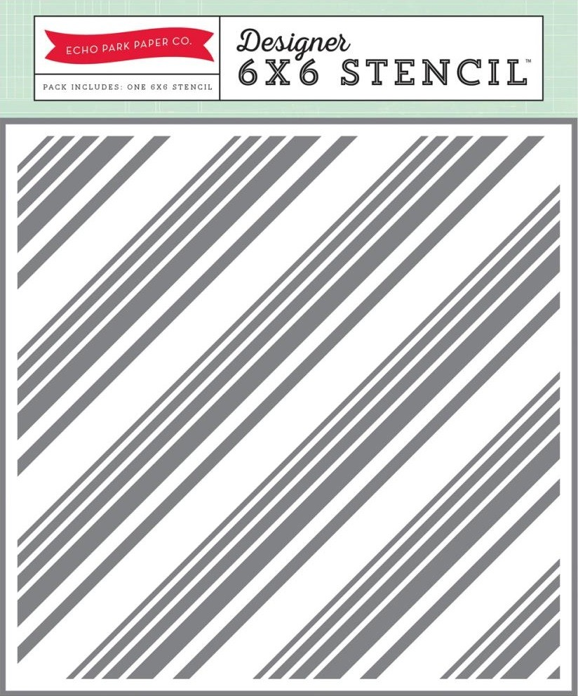 Diagonal Stripes Stencil  6x6