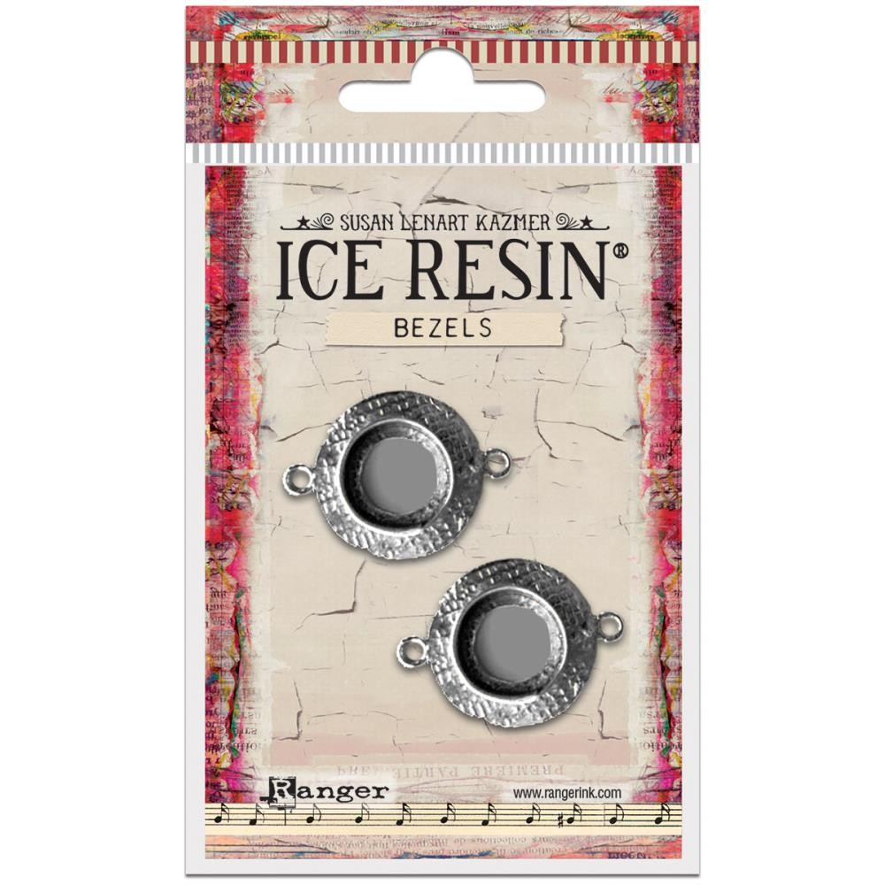 Antique Silver Small Circle Bezels Ice Resin