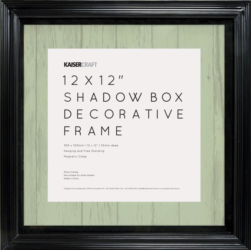 Black Shadow Box Frame 12x12