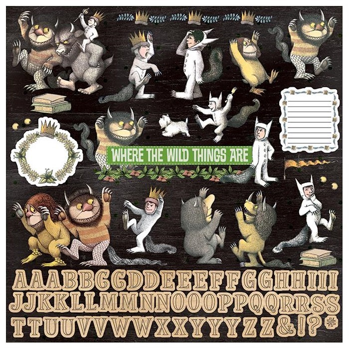 Autocollants Alphabets 12x12 Where The Wild Things Are