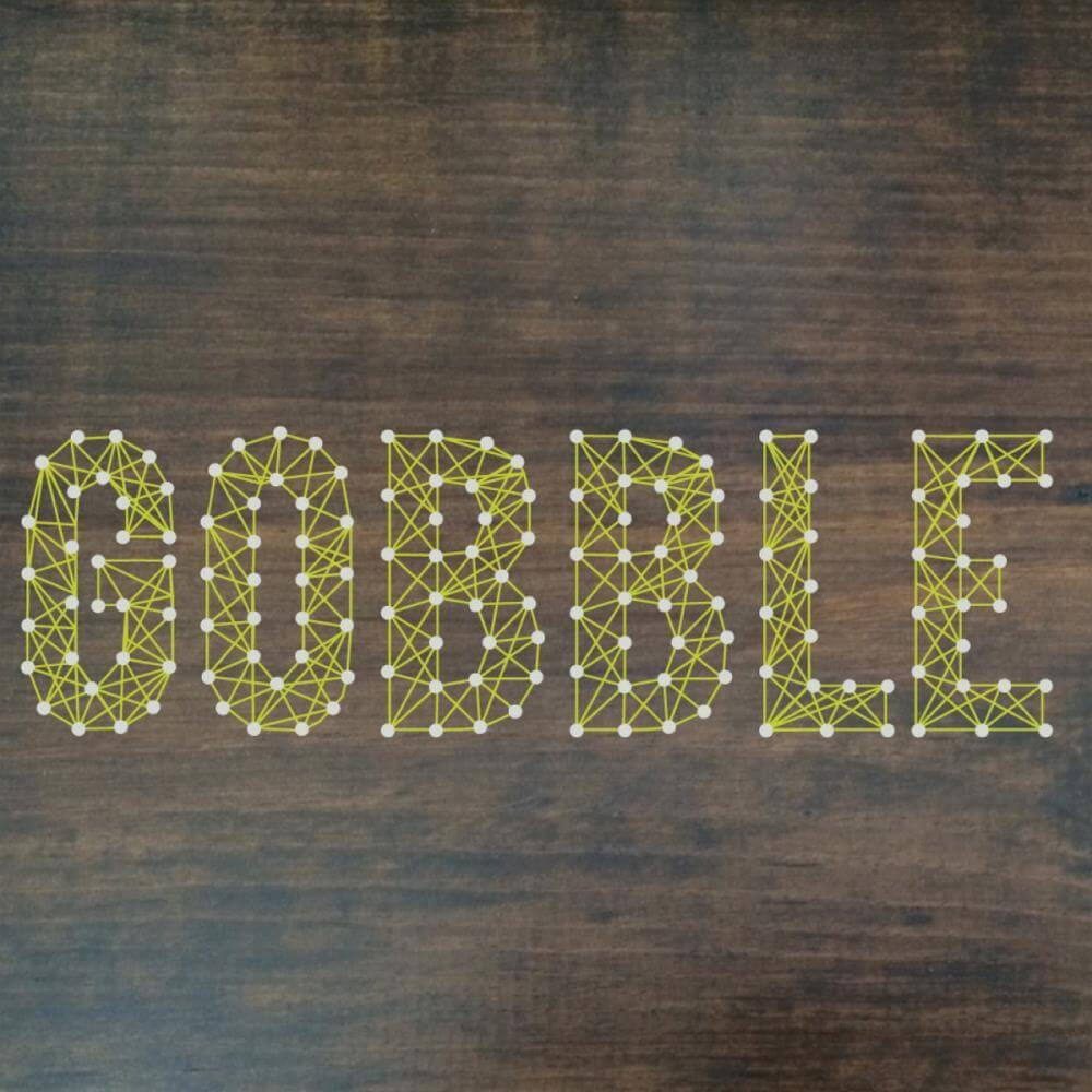 "Kit String Art 10""x10"" Gobble"