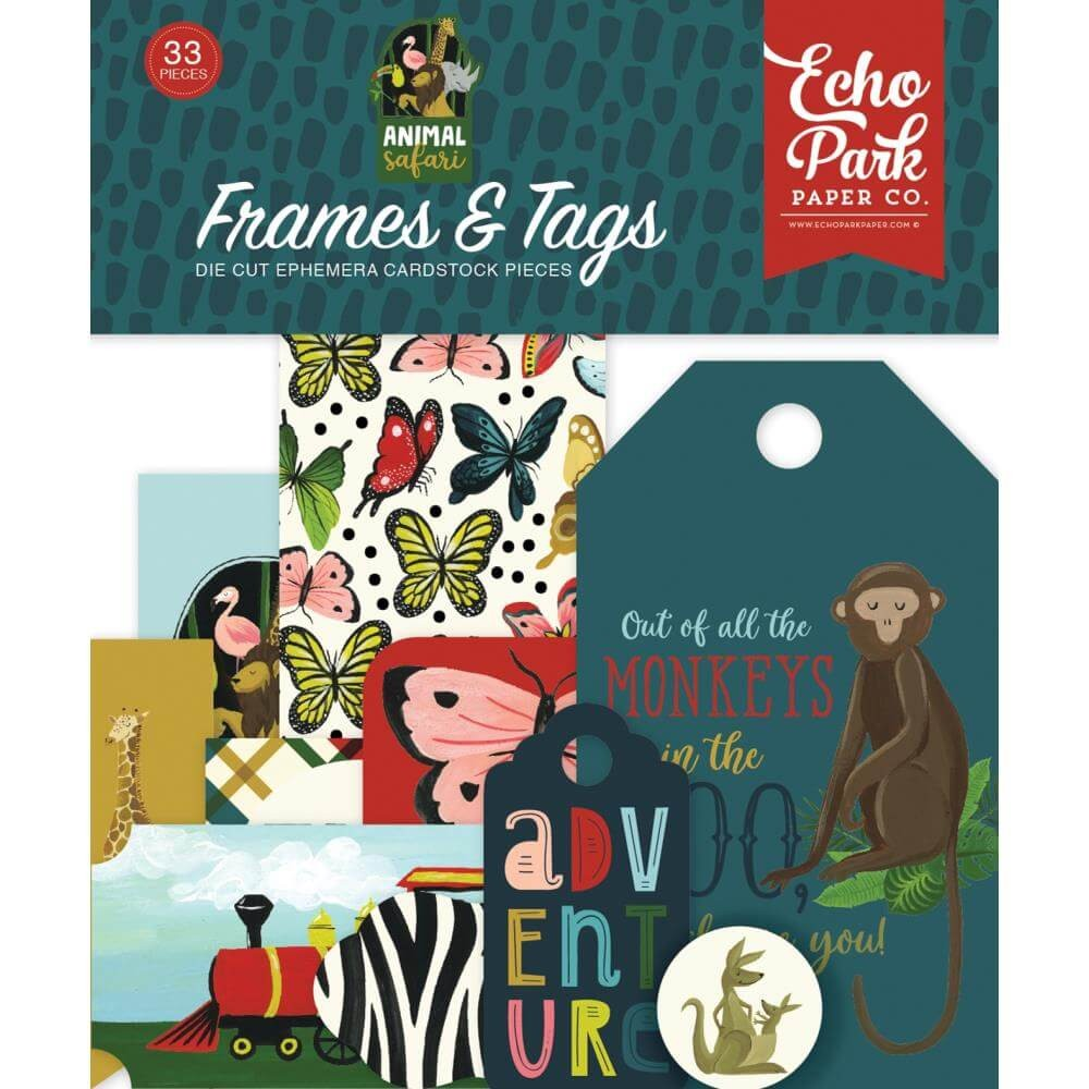 Die Cuts Animal Safari Frames & Tags
