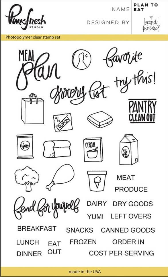 Tampon Acrylique Plan A Meal
