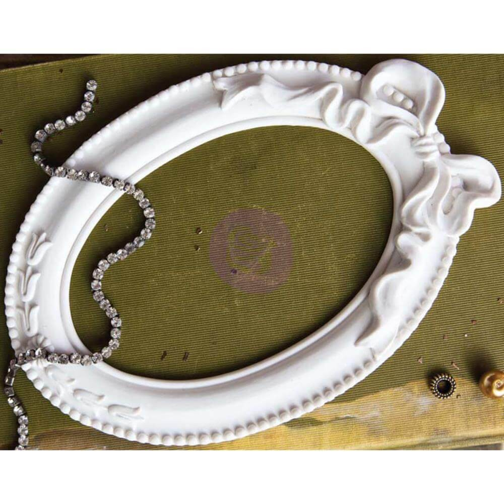Cadre Memory Hardware - Pappillon Blanc Oval